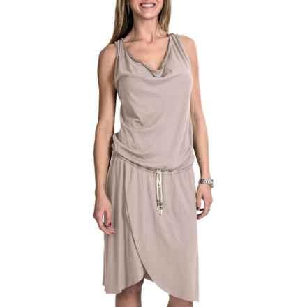 Dylan by True Grit Wrap Tie Dress - Slub Jersey, Sleeveless (For Women) in Chalk - Closeouts