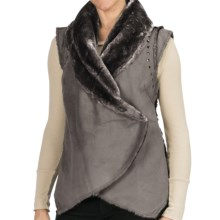 Dylan by True Grit Wrap Vest - Faux-Shearling Lining (For Women) in Flannel - Closeouts