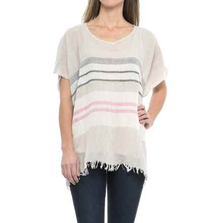 dylan Capri Stripe Poncho (For Women) in Khaki - Closeouts