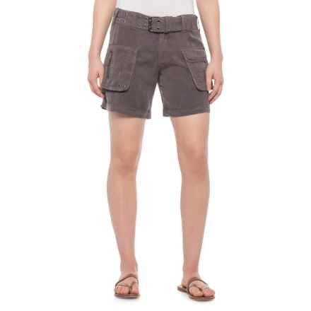 dylan Carbon Washed Utility Shorts - TENCEL® (For Women) in Carbon - Closeouts