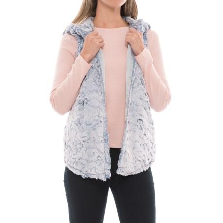 dylan Chambray Faux-Fur Vest (For Women) in Denim