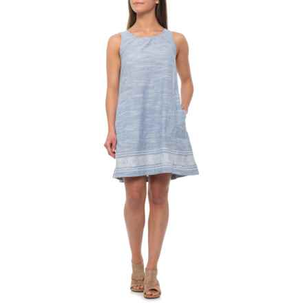 dylan Chambray Sienna Dress - Short Sleeve (For Women) in Chambray - Closeouts