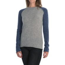 dylan Color-Block Sweater - Angora Blend (For Women) in Indigo - Closeouts