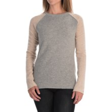 dylan Color-Block Sweater - Angora Blend (For Women) in Oatmeal - Closeouts
