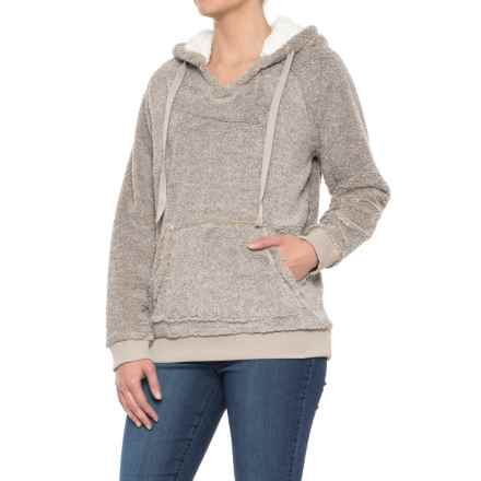 dylan Cool & Cozy Berber Hoodie (For Women) in Smoke - Closeouts