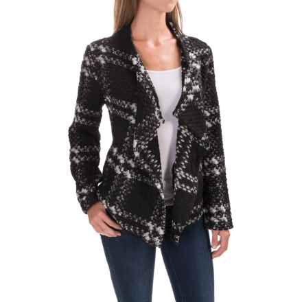 dylan Cortana Plaid Italian Yarn Jacket (For Women) in Black/Natural Plaid - Closeouts