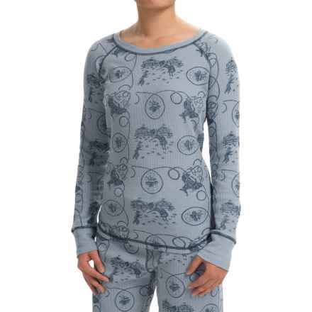 dylan Coverstitch Lounge Shirt - Long Sleeve (For Women) in Cowgirl/Chambray - Closeouts