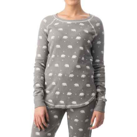dylan Coverstitch Lounge Shirt - Long Sleeve (For Women) in Native Bear/Silver Grey - Closeouts