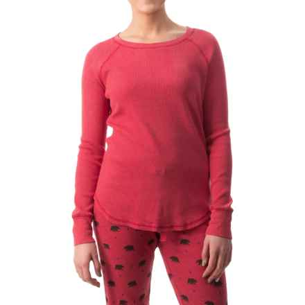 dylan Coverstitch Lounge Shirt - Long Sleeve (For Women) in Vintage Red - Closeouts