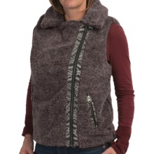 dylan Cozy Up Berber Fleece Vest (For Women) in Charcoal - Closeouts