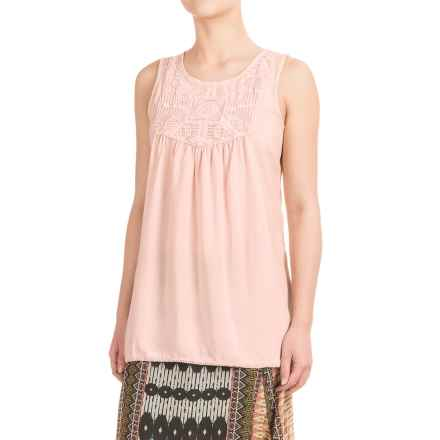 dylan Crochet-Panel Tank Top (For Women) in Blush - Closeouts