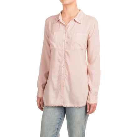 dylan Crochet-Trim Shirt - Modal, Long Sleeve (For Women) in Blush - Closeouts