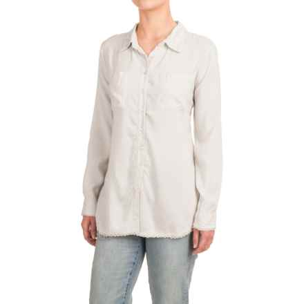 dylan Crochet-Trim Shirt - Modal, Long Sleeve (For Women) in White - Closeouts