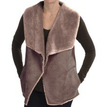 dylan Distressed Faux-Shearling Vest (For Women) in Brown - Closeouts
