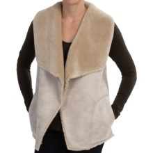 dylan Distressed Faux-Shearling Vest (For Women) in Natural - Closeouts