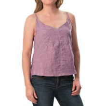 dylan Double-Layered Stitched Camisole (For Women) in Violet Shadow - Closeouts