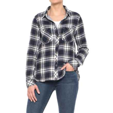 dylan Double-Weave Plaid Work Shirt - Long Sleeve (For Women) in Navy - Closeouts