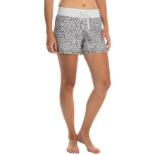 dylan Drawstring Lounge Shorts (For Women) in Chic Cheetah/Faded White - Closeouts