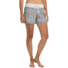 dylan Drawstring Lounge Shorts (For Women) in Chic Cheetah/Pastel Pink - Closeouts