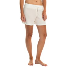 dylan Drawstring Lounge Shorts (For Women) in Faded White - Closeouts