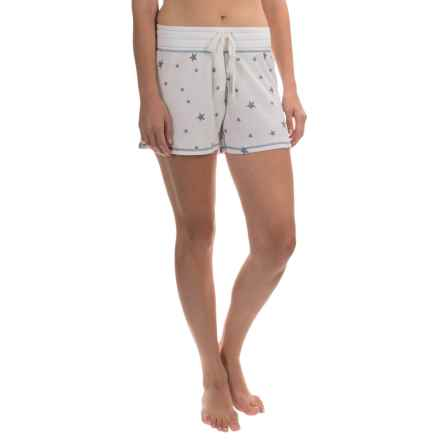 dylan Drawstring Lounge Shorts (For Women) in Vinatge/Faded White - Closeouts