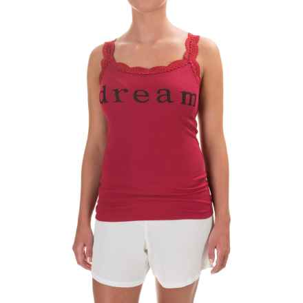 dylan Dream Tank Top - Lace Trim (For Women) in Red - Closeouts