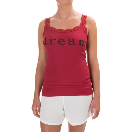 dylan Dream Tank Top - Lace Trim (For Women) in Red