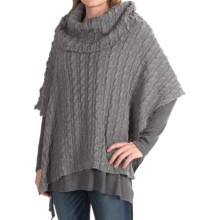 dylan Earth Fairy Poncho - Cowl Neck (For Women) in Heather Grey - Closeouts