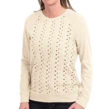dylan Eyelet-Front Shirt - Long Sleeve (For Women) in Soft Natural - Closeouts