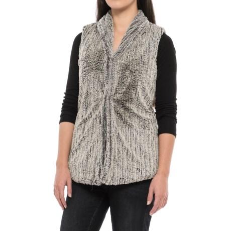 dylan Faded Fleece Snap-Front Vest (For Women) in Faded Black