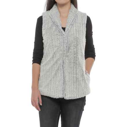 dylan Faded Fleece Snap-Front Vest (For Women) in Faded Chambray - Closeouts