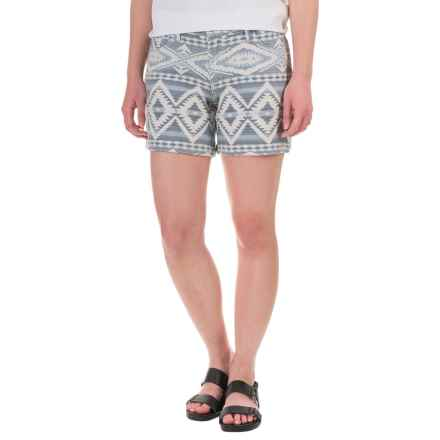 dylan Faded Mesa Shorts (For Women) in Blue - Closeouts