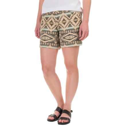 dylan Faded Mesa Shorts (For Women) in Olive - Closeouts