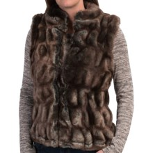 dylan Faux-Fur Stretch Vest (For Women) in Brown/Indigo - Closeouts