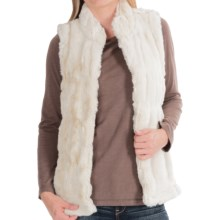 dylan Faux-Fur Stretch Vest (For Women) in Ivory - Closeouts