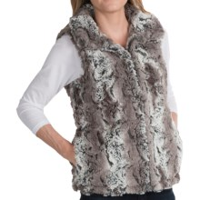 dylan Faux-Fur Trapper Vest (For Women) in Vintage Grey/Brown - Closeouts