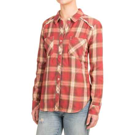 dylan Flannel Shirt Jacket - Fully Lined (For Women) in Red Lakeside - Closeouts