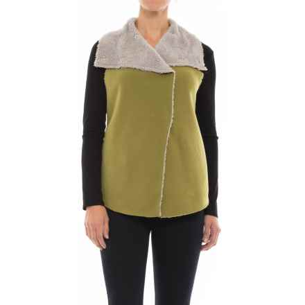 dylan Fleece Mock Vest (For Women) in Leaf - Closeouts