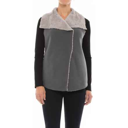 dylan Fleece Mock Vest (For Women) in Vintage Grey - Closeouts