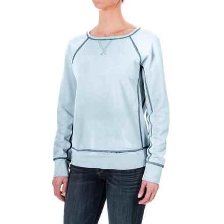dylan Fleece Vintage Raglan Sweatshirt (For Women) in Blue - Closeouts
