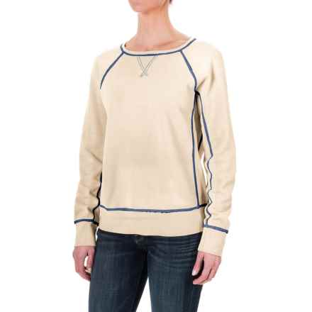 dylan Fleece Vintage Raglan Sweatshirt (For Women) in Natural - Closeouts