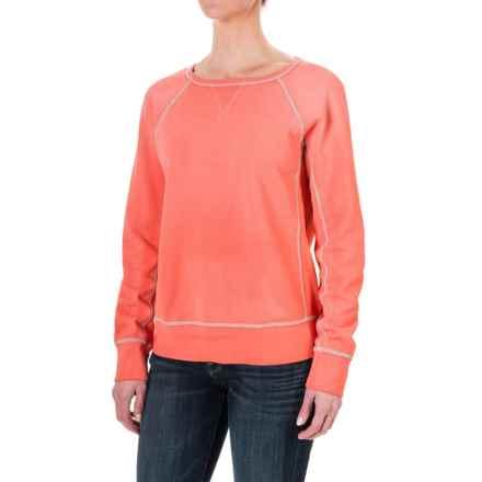 dylan Fleece Vintage Raglan Sweatshirt (For Women) in Red - Closeouts