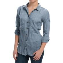 dylan Flyaway Split-Back Shirt - Long Sleeve (For Women) in Denim - Closeouts