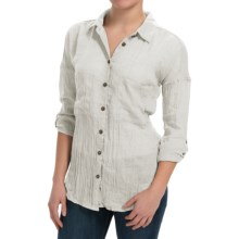dylan Flyaway Split-Back Shirt - Long Sleeve (For Women) in Perfect White - Closeouts