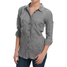 dylan Flyaway Split-Back Shirt - Long Sleeve (For Women) in Vintage Black - Closeouts