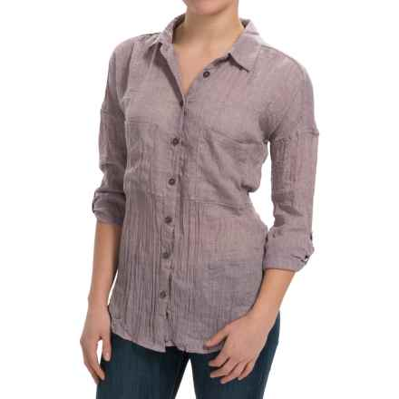 dylan Flyaway Split-Back Shirt - Long Sleeve (For Women) in Violet Shadow - Closeouts