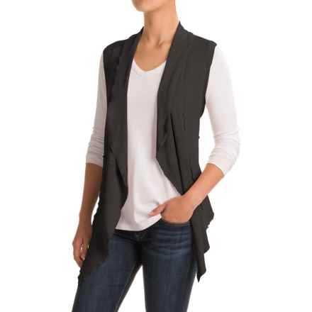 dylan French Terry Vintage Vest (For Women) in Soft Black - Closeouts