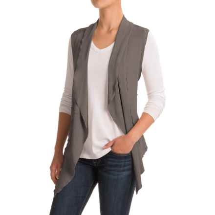 dylan French Terry Vintage Vest (For Women) in Vintage Grey - Closeouts