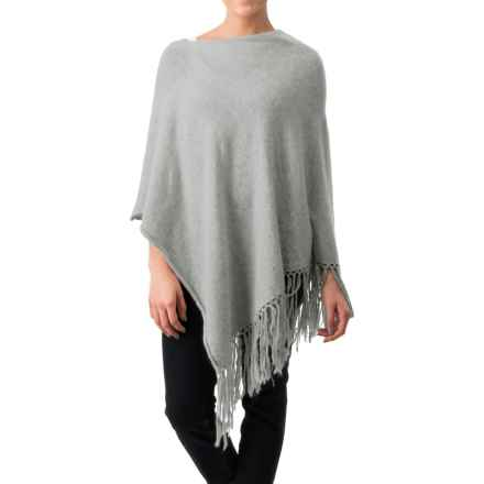 dylan Fringe Poncho (For Women) in Heather - Closeouts