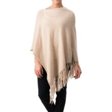 dylan Fringe Poncho (For Women) in Oatmeal - Closeouts